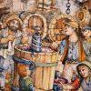 La Vendemmia Piatto Decorativo Arte Ceramica La Mastro Giorgio