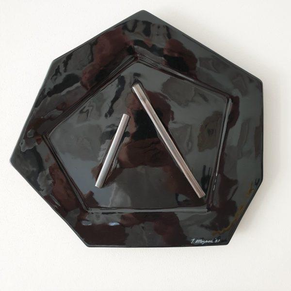 Piatto da Parete Nero Arte Ceramica Teodosio Magnozzi