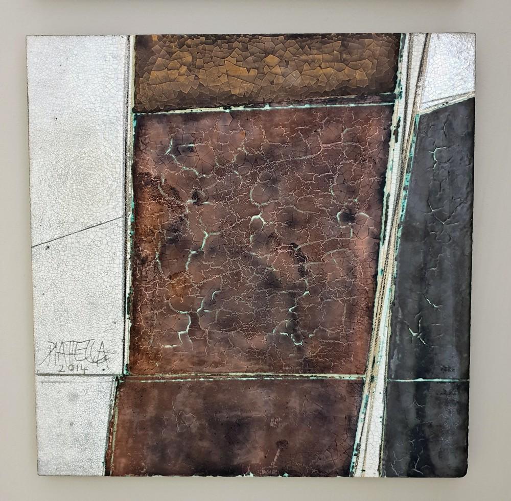 Segni Lastra da Parete Arte Ceramica Oscar Piattella