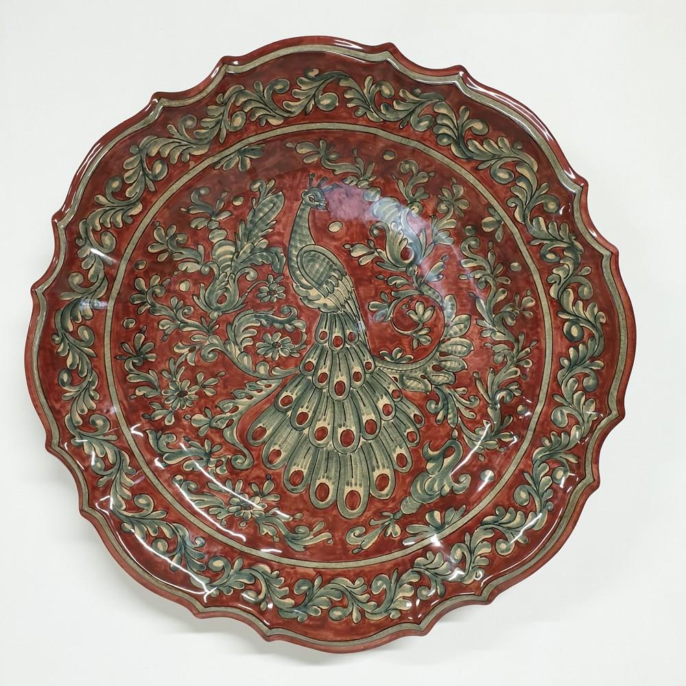 Piatto Barocco Arte Ceramica Mastro Giorgio
