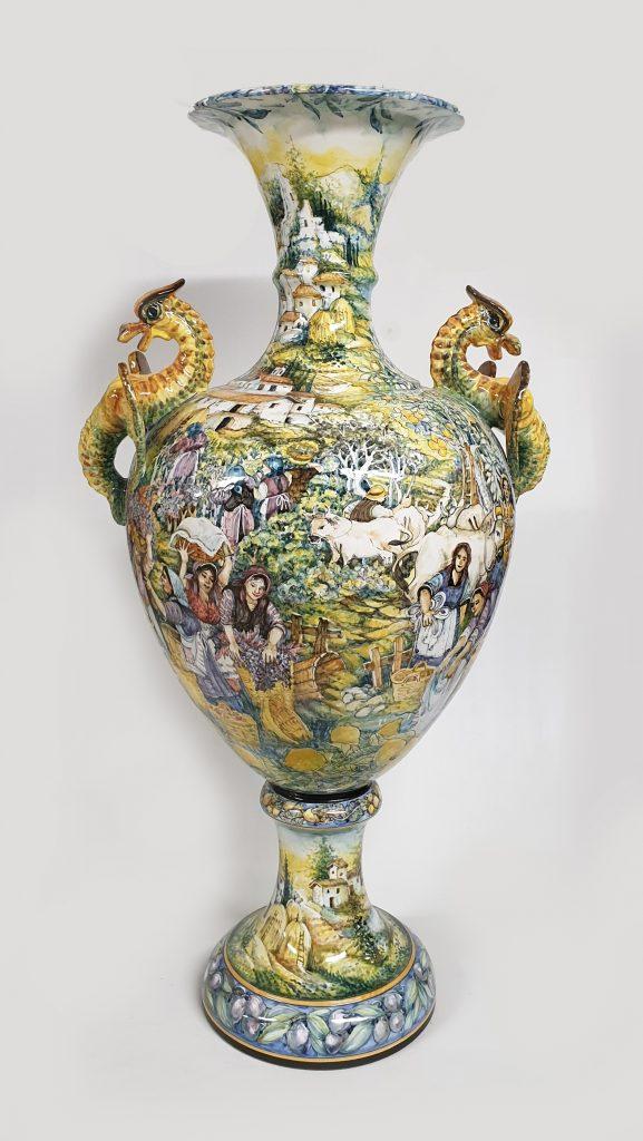 La Vendemmia Anfora Arte Ceramica Mastro Giorgio
