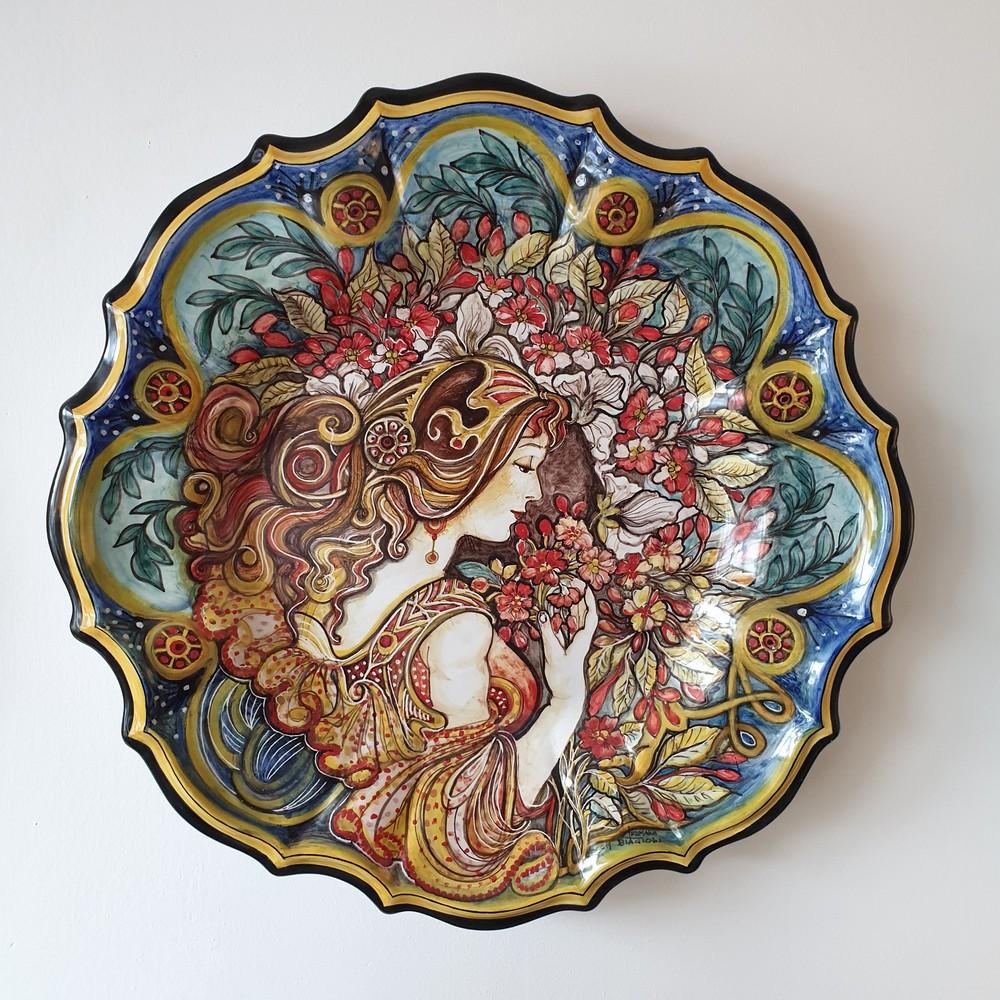 Piatto da Parete Arte Ceramica Alfons Mucha