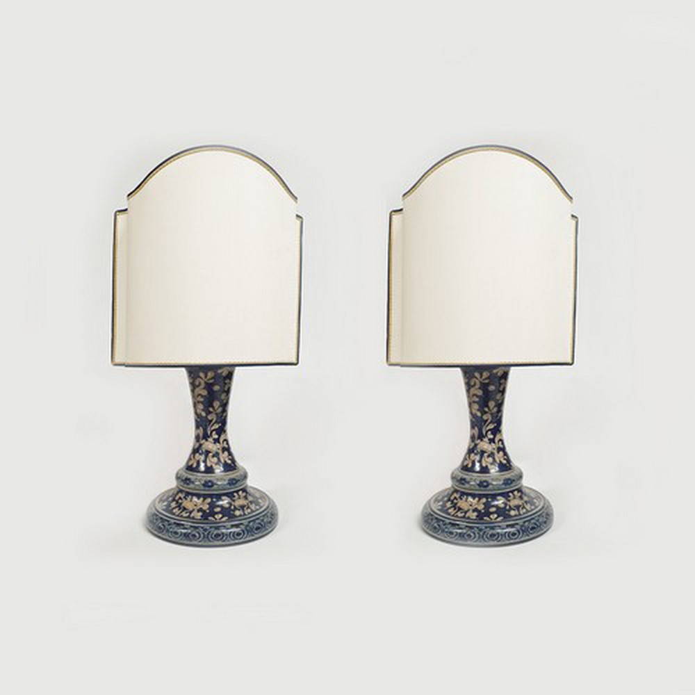 Lampade a Stele da Comodino Arte Ceramica Mastro Giorgio