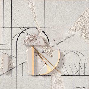 La Porta del Tempo Lastra da Parete Arte Ceramica Walter Valentini