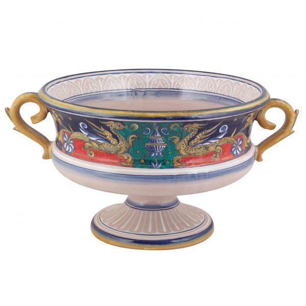 Coppa Tavolo Ippogrifo Antica Deruta