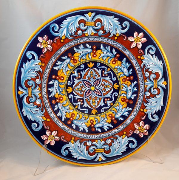 Centro Tavola Decoro Ghirlanda Ceramica Deruta