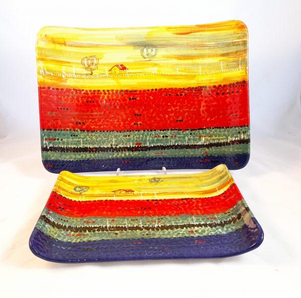 Servizio Antipasto Decoro Castelluccio Ceramica Deruta
