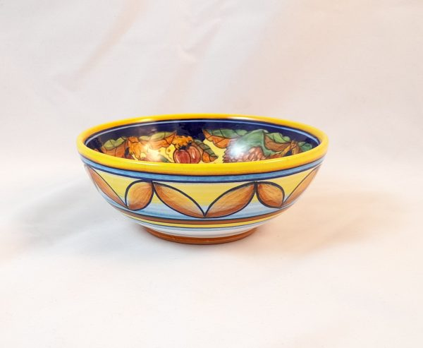 Servizio Piatti Decoro Frutta Ceramica Deruta