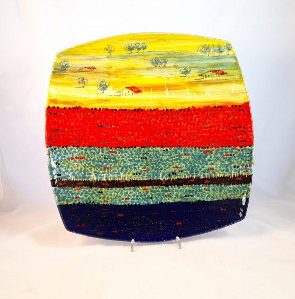 Centro Tavola Decoro Castelluccio Ceramica Deruta