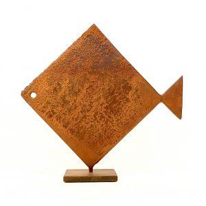 Pesce Rombo Scultura Ferro Officina Peppoloni