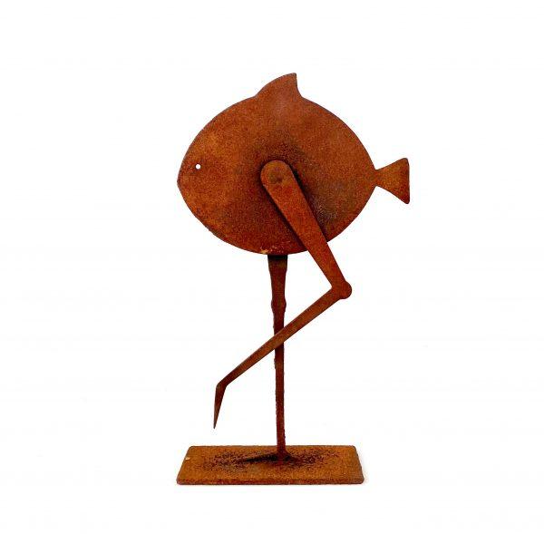 Pesce Falmingo Scultura Ferro Officina Peppoloni