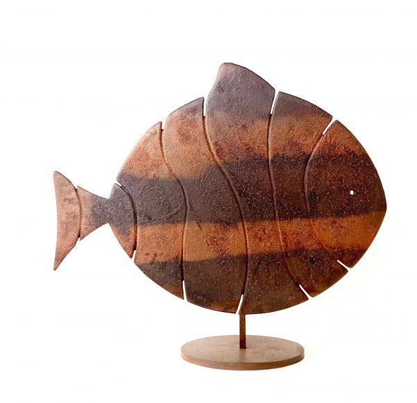 Pesce Memoria Scultura Ferro Officina Peppoloni