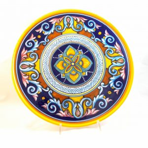 Piatto Pizza Decoro Kilim Ceramica Deruta