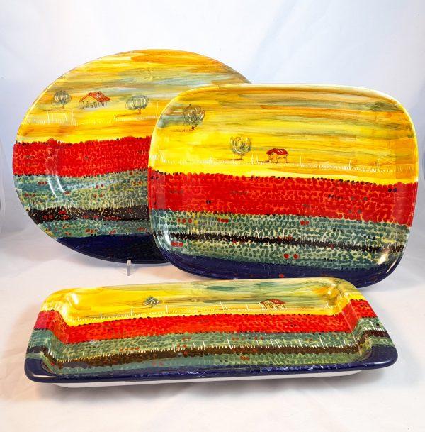 Servizio da Portata Decoro Castelluccio Ceramica Deruta