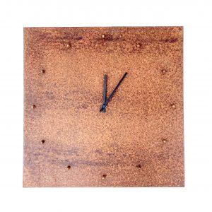 Orologio da Parete Lastra Bullonata Officina Peppoloni