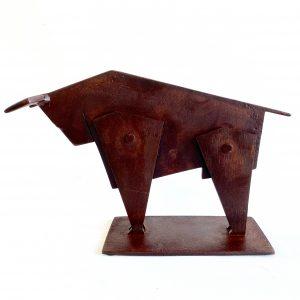 Toro Cubista Scultura Ferro Officina Peppoloni