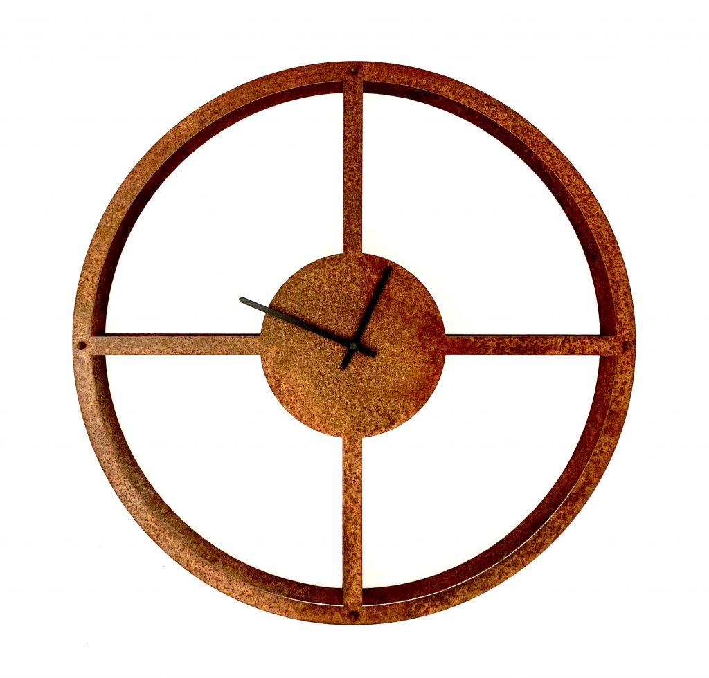 Orologio da Parete Ruota di Ruggine Officina Peppoloni