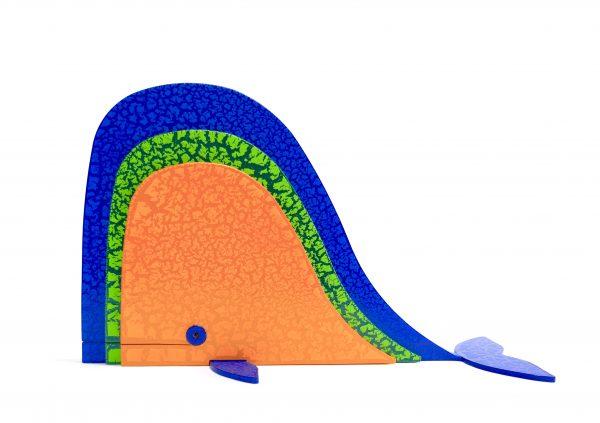 Balena Multicolore Scultura Ferro Officina Peppoloni