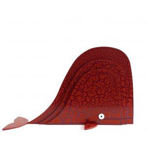 Balena Rossa Scultura Ferro Officina Peppoloni