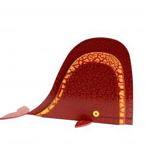 Balena Rosso Arancio Scultura Ferro Officina Peppoloni