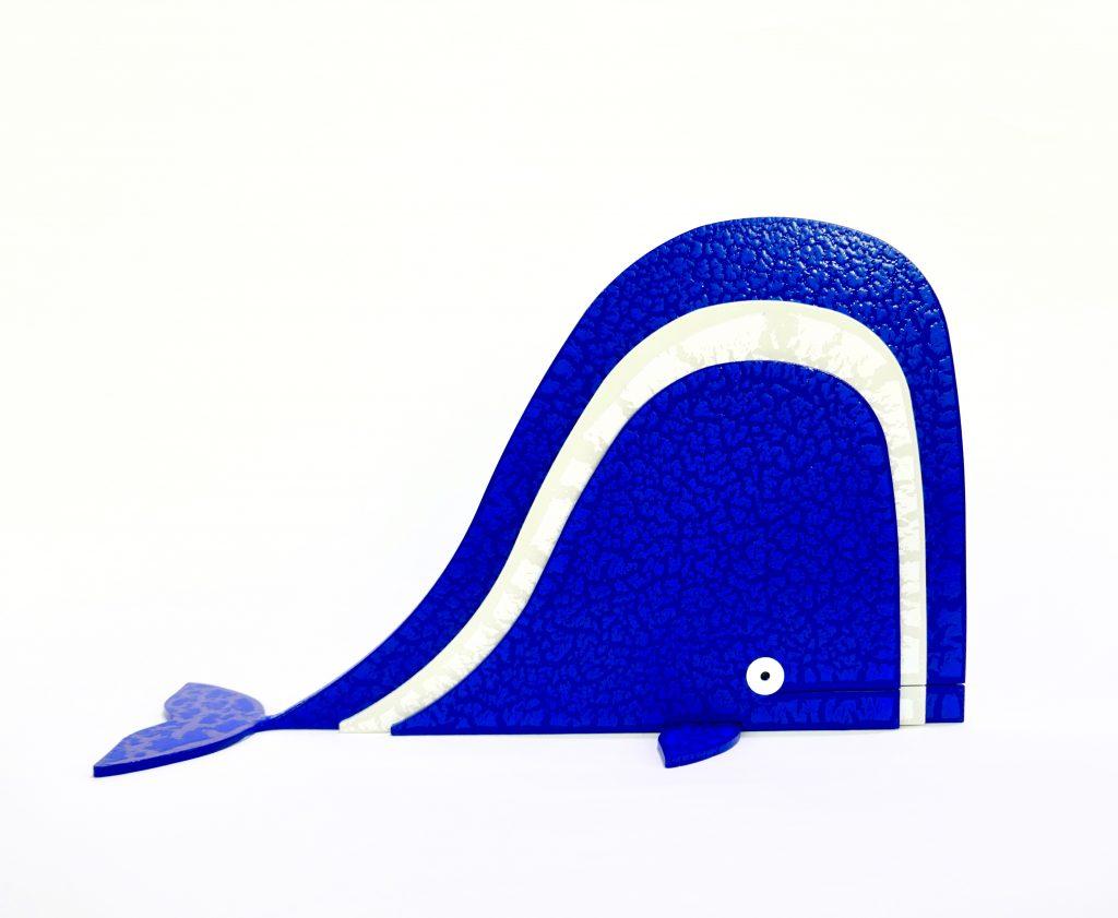 Balena Blu Bianco Scultura Ferro Officina Peppoloni