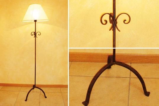 marte lampada stelo da terra piantana ferro battuto