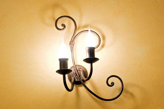 praga lampada da parete Artigianfer